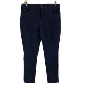 Chaps Plus Size Navy Corduroy Pants